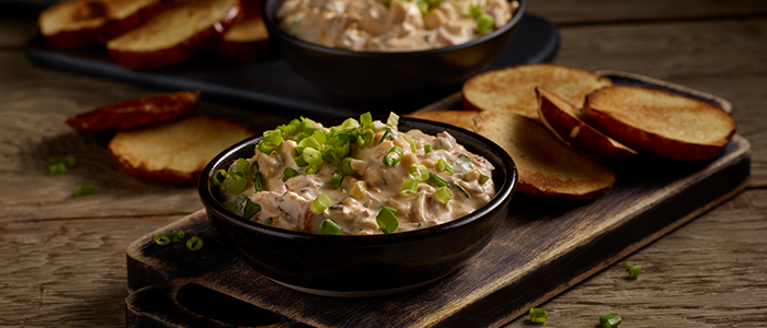 Pulled Chicken Pimento Cheese Dip.