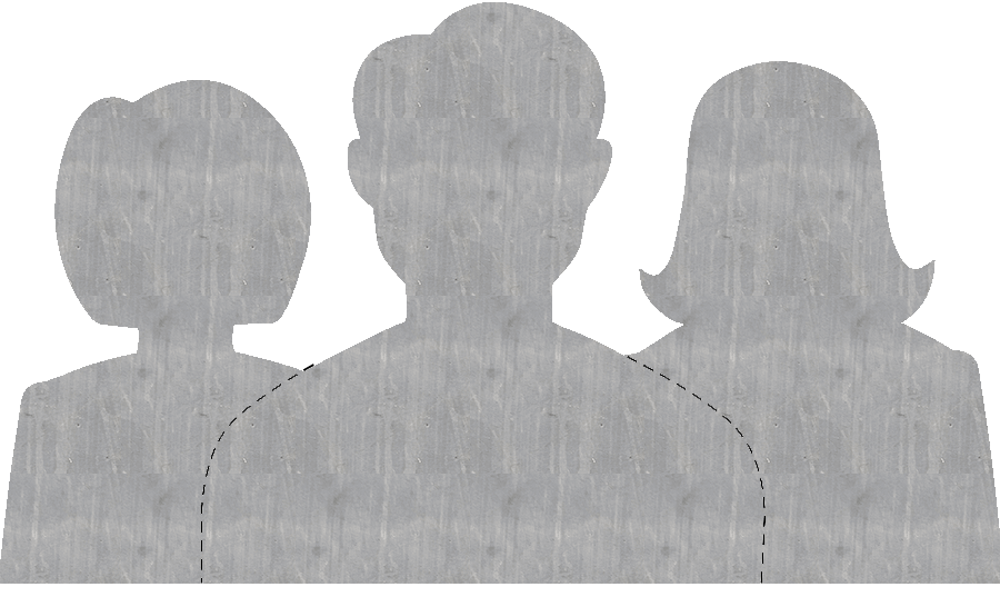 family icon with light gradient black lines